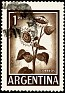 Argentina 1961 Sunflower 1 Peso Brown Scott 690 A278. Uploaded by SONYSAR