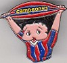 Betty Boop - Campeones - Multicolor - Spain - Metal - Sports,Football, FC Barcelona, Cartoon - 0