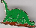 Brontosaurus - Green & Red - Metal - Dinosaurus - 0