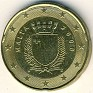 Euro - 20 Euro Cent - Malta - 2008 - Aluminum-Bronze - KM# 129 - 22.25 mm - Obv:  Crowned shield within wreath Rev:  Denomination and Map of Western Europe - 0