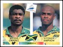 France - 1998 - Panini - France 98, World Cup - 557 - Yes - Peter Gargill And Fitzroy Simpson, Jamaica - 0