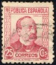 Spain - 1934 - Characters And Monuments - 25 CTS - Purple Carmine - Spain, Writer, Celebrity - Edifil 685 - Manuel Ruiz Zorrilla - 0