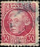 Spain 1935 Characters 30 CTS Carmine Edifil 687. Uploaded by Mike-Bell