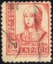 Spain - 1937 - Cid & Isabel - 30 CMS - Rosa - Queen, Woman - Edifil 823 - Isabel the Catholic - 0