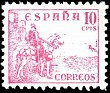 Spain 1937 Cid & Isabella 10 CTS Red Edifil 818