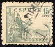Spain 1937 Cid & Isabella 15 CTS Green Edifil 819. Uploaded by Mike-Bell