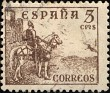 Spain - 1937 - Cid & Isabella - 5 CMS - Sepia - Spain, Warrior, Heroe, Animal, Horse - Edifil 816 - El Cid - 0