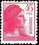Spain - 1938 - Republic Alegory - 45 CTS - Rosa - Spain, Republic, Woman - Edifil 752 - 0