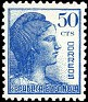 Spain 1938 Republic Alegory 50 CTS Blue Edifil 753. España 753. Uploaded by susofe
