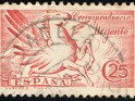 Spain - 1939 - Pegasus - 25 CTS - Carmine - Spain, Animal, Horse - Edifil 879 - Express Pegasus - 0