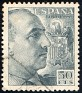 Spain - 1940 - General Franco - 50 CTS - Pizarra - Dictator, Army General - Edifil 927 - 0